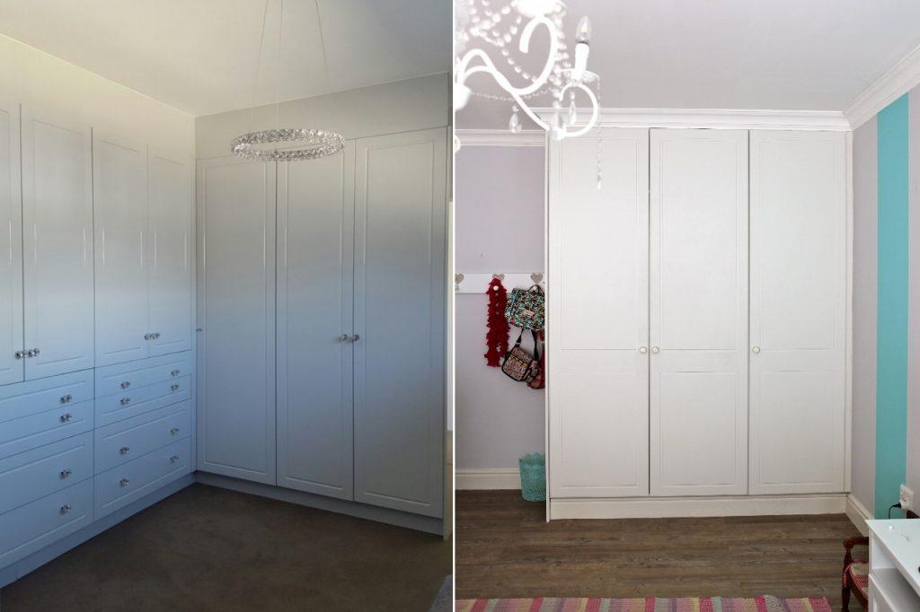White alpine finish bedroom cupboards cupboardline for Bedroom cupboards designs cape town